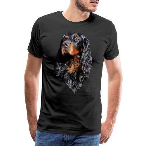 Gordon Setter Portrait - Miesten premium t-paita