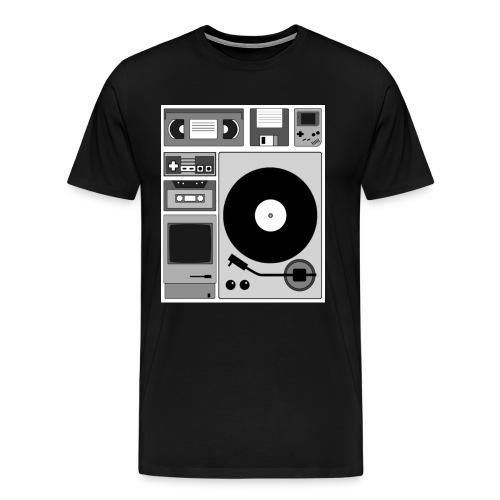 Shirt Entwurf EMF Alte Abspielgeräte Mit bild png - Männer Premium T-Shirt