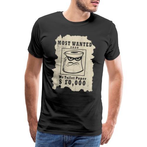 Most Wanted Toalett Papper - Premium-T-shirt herr