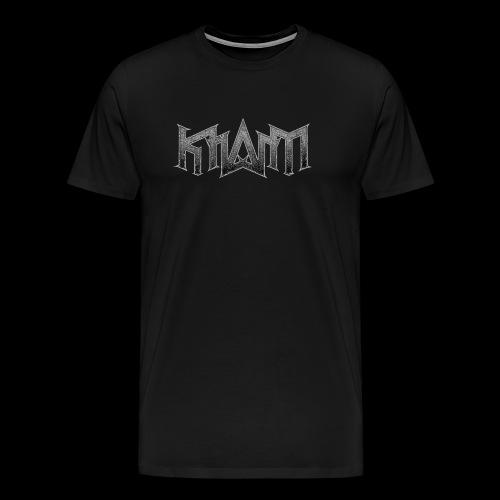 khasm logo + Wolf on back - T-shirt Premium Homme