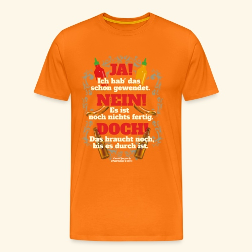 Grill T Shirt   witziger Spruch   Geschenkidee - Männer Premium T-Shirt