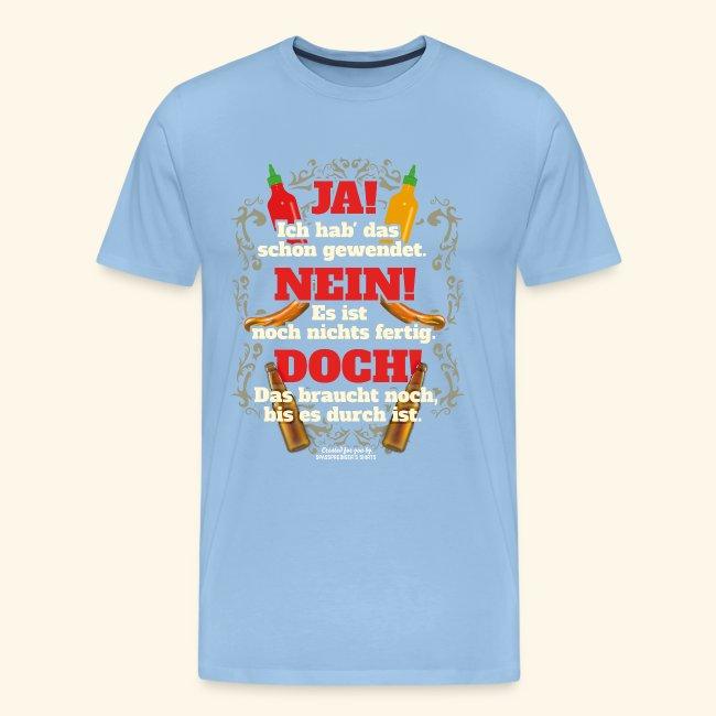 Grill T Shirt | witziger Spruch | Geschenkidee