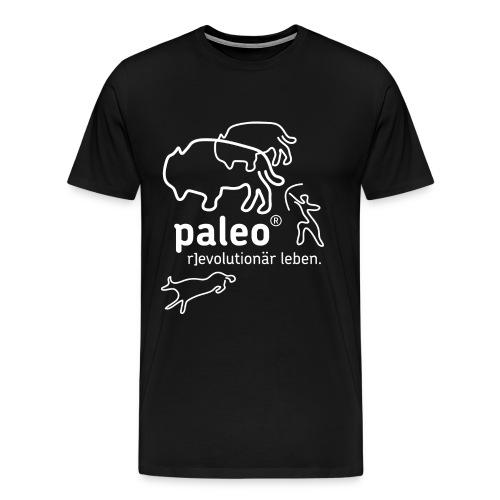 Paleo r evolutionär Illu - Männer Premium T-Shirt