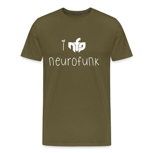 I Love Neurofunk - Men's Premium T-Shirt