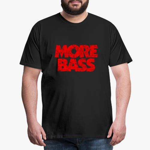 More Bass (Vintage/Rot) Bassist Bassisten - Männer Premium T-Shirt