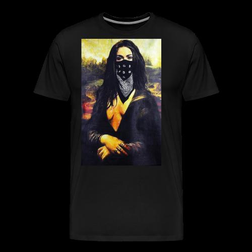 Mona Lisa Gangsta - Koszulka męska Premium