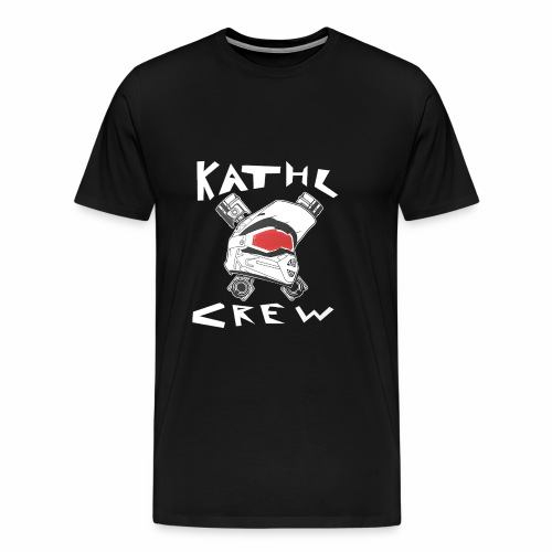 Kathl Crew Logo mit Schriftzug - Männer Premium T-Shirt