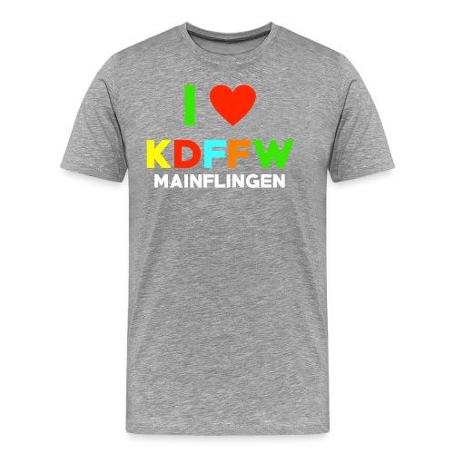 neon herz png - Männer Premium T-Shirt