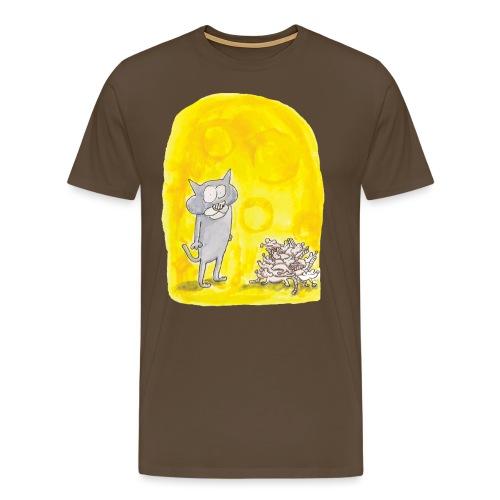 Le chat et les souris - T-shirt Premium Homme