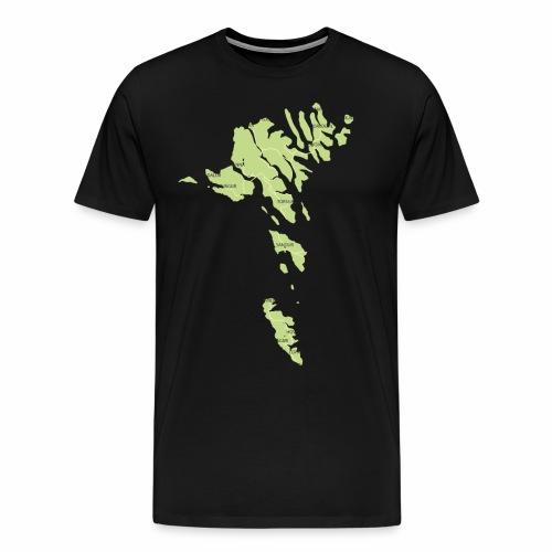 færøerne - Herre premium T-shirt