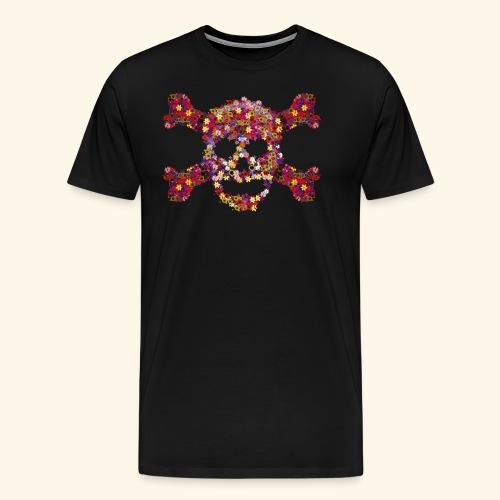 Crâne fleuri - T-shirt Premium Homme