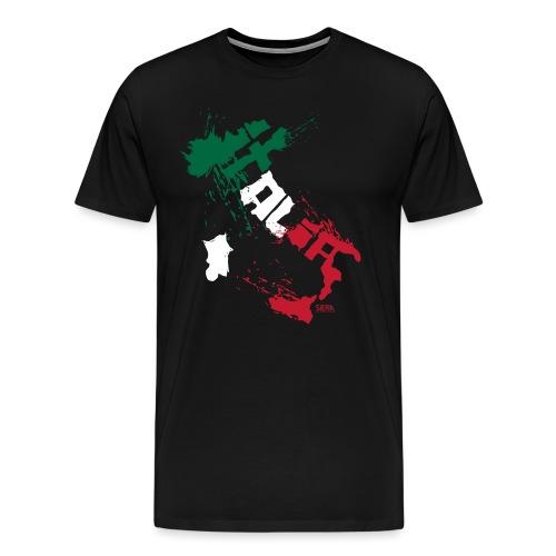Italia Blanc.png - T-shirt Premium Homme