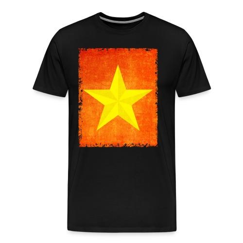yellow amish barn star t-shirt design gift idea - Maglietta Premium da uomo