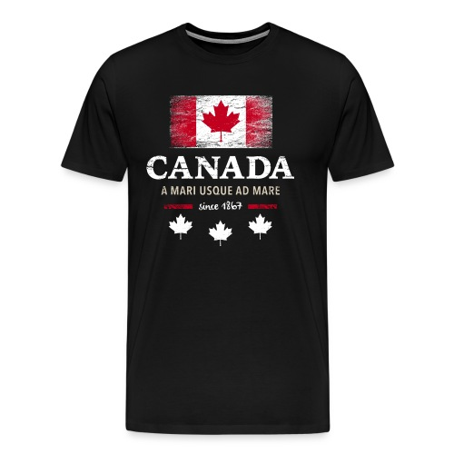 Canada Kanada Amerika maple leaf Flagge Fahne - Men's Premium T-Shirt