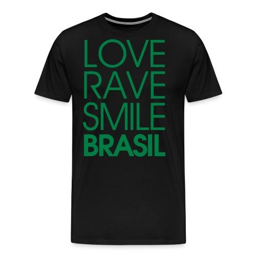 LOVE RAVE SMILE - Männer Premium T-Shirt