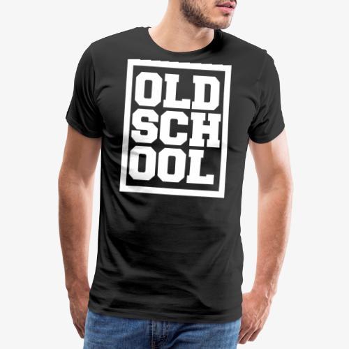 Old School Hip Hop Text T-Shirt Retro Geschenk - Männer Premium T-Shirt
