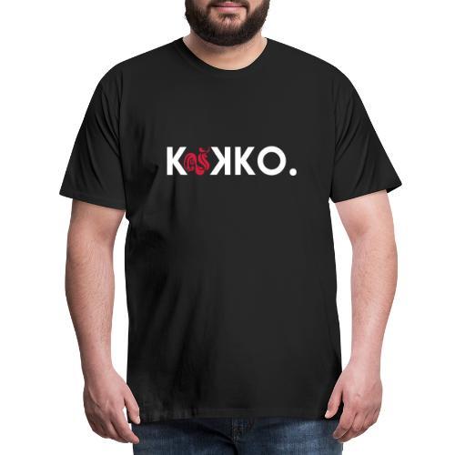 KUKKO teksti logo - Miesten premium t-paita