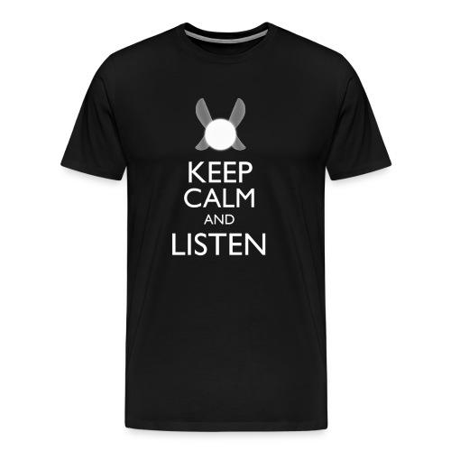 Zelda - Keep Clam & Listen - Men's Premium T-Shirt