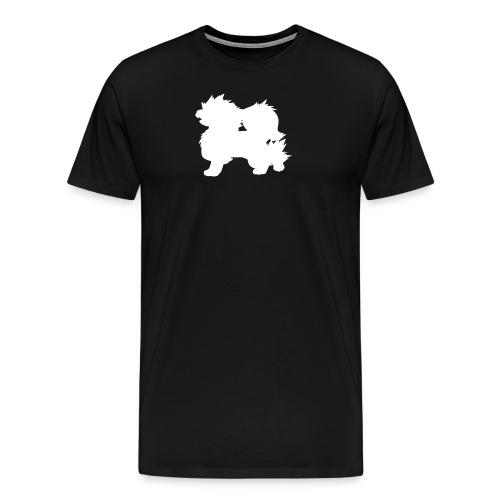 All white Arcanine Merch - T-shirt Premium Homme