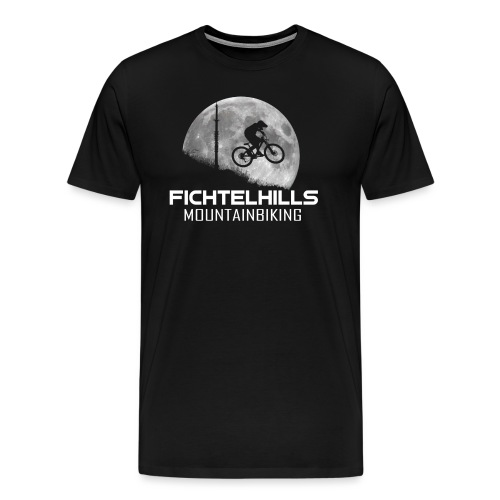 fichtelhills mountainbiking night ride fullmoon - Männer Premium T-Shirt