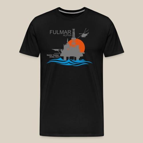 Fulmar Alpha Oil Rig Platform North Sea Aberdeen - Men's Premium T-Shirt