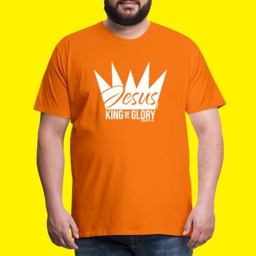 JESUS KING OF GLORY // Psalm 24:10 (WHITE) - Men's Premium T-Shirt