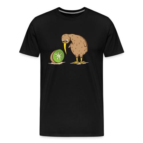 Kiwi Neuseeland flugunfähig Vogel Kiwifrucht - Männer Premium T-Shirt