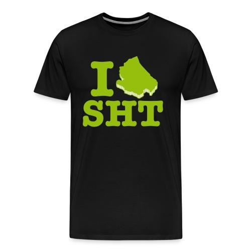 I love SHT green - Maglietta Premium da uomo