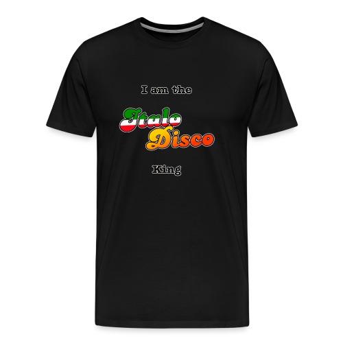 i am the italo disco king - Premium T-skjorte for menn