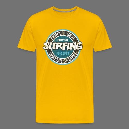 North Sea Surfing (oldstyle) - Men's Premium T-Shirt