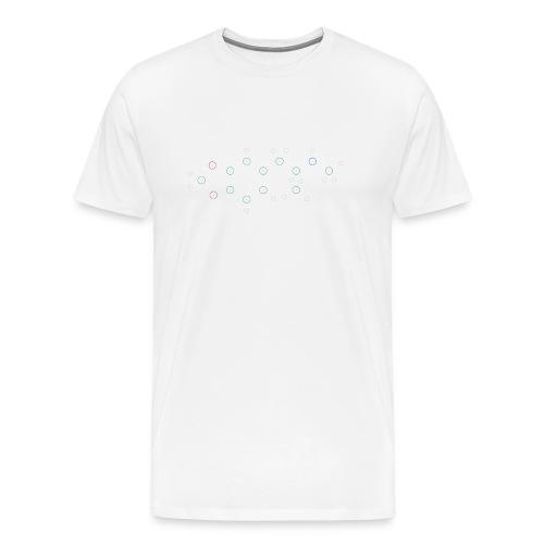 Molecule Molly - Light - Mannen Premium T-shirt