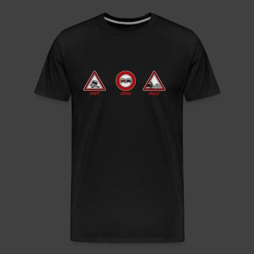 panneau drif drag rally png - T-shirt Premium Homme