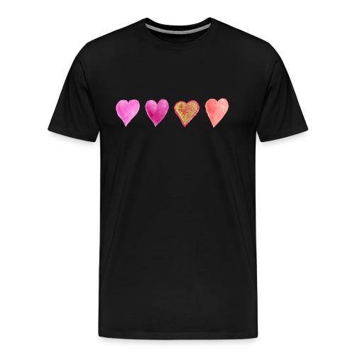 Herzen - Männer Premium T-Shirt