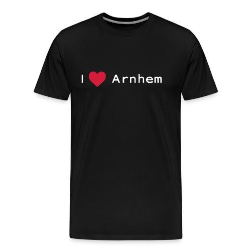 I love Arnhem wit - Mannen Premium T-shirt