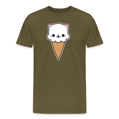 Eis Katze Vanille - Männer Premium T-Shirt