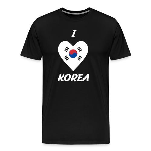 I LOVE KOREA - Männer Premium T-Shirt