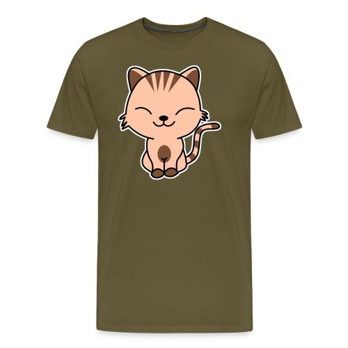 Fröhliche Katze - Männer Premium T-Shirt