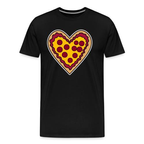 Pizza Herz - Männer Premium T-Shirt