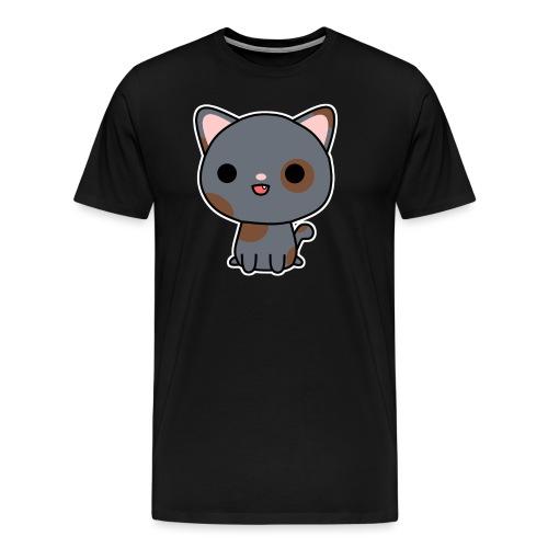 Glückliche Katze - Männer Premium T-Shirt