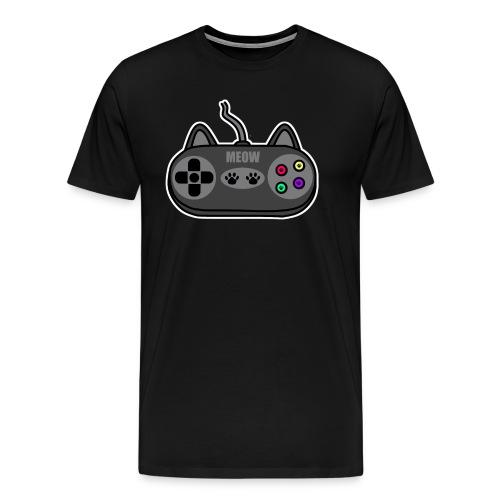 Katzen Gaming Kontroller - Männer Premium T-Shirt