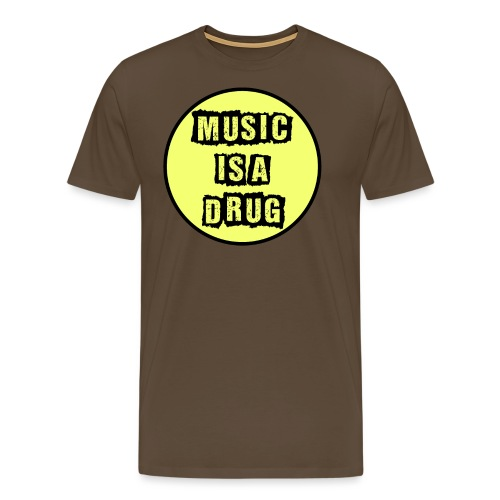 Music is a drug - Männer Premium T-Shirt