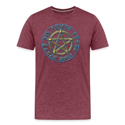Runen Pentagramm Elemente Schutz Amulett Magie - Männer Premium T-Shirt