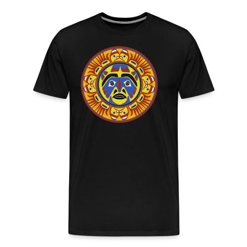 Masque du soleil amérindien - T-shirt Premium Homme
