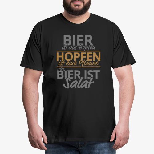 Bier ist Salat - Männer Premium T-Shirt