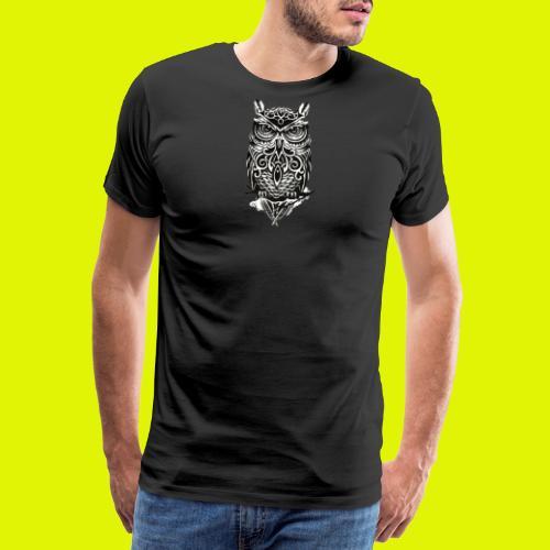 maglietta gufo - Maglietta Premium da uomo