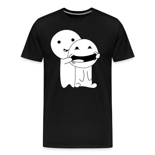 Lächeln Smile Spaß - Männer Premium T-Shirt