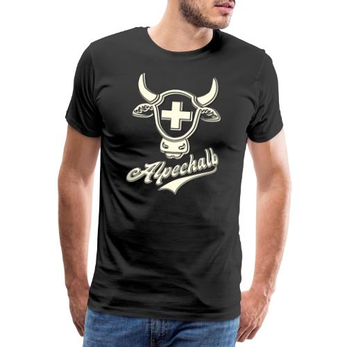 Schweiz   Alpechalb Shirt   Niedlicher Kuhkopf - Männer Premium T-Shirt