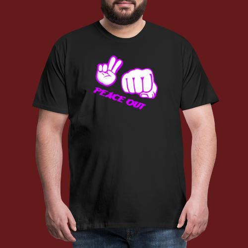 Peace Out - Premium-T-shirt herr