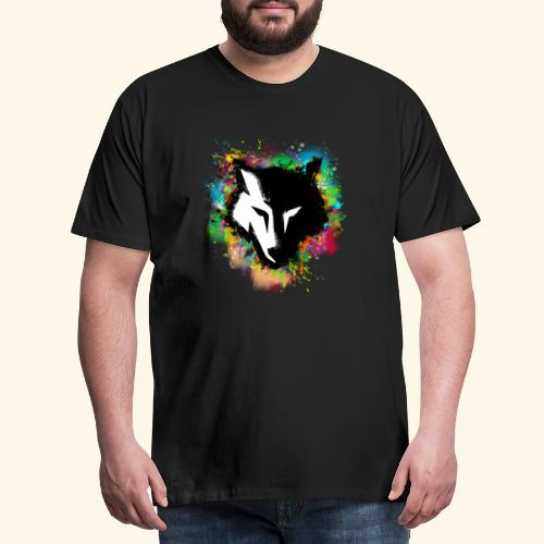 Loup coloré - T-shirt Premium Homme