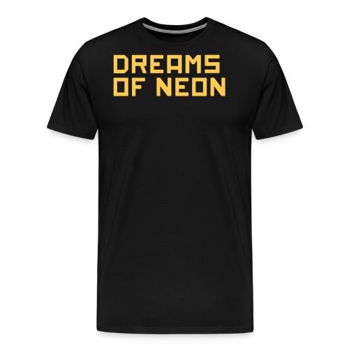 neon logo - Men's Premium T-Shirt